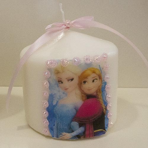 Preferenza Candela personalizzata – Frozen – Bomboniere e articoli da regalo  CD55