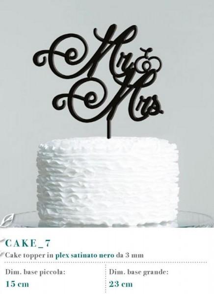 Cake topper in plexiglass satinato nero, 3 MM
