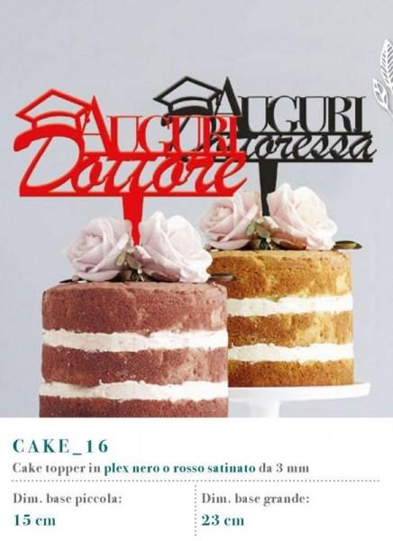 Cake topper in plexiglass satinato rosso o nero, 3 MM