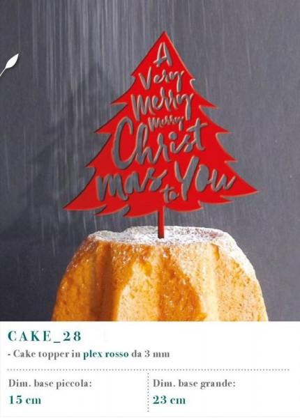 Cake topper in plexiglass rosso, MM 3.
