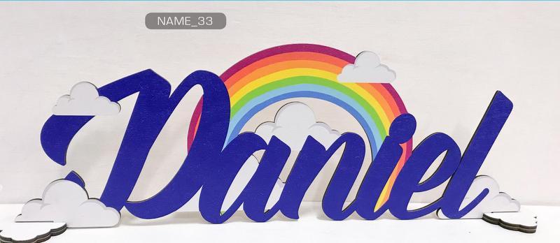 Scritta in legno colorato personalizzato. Colore e scritta a scelta. Lunghezza MAX 40 CM H 15M
