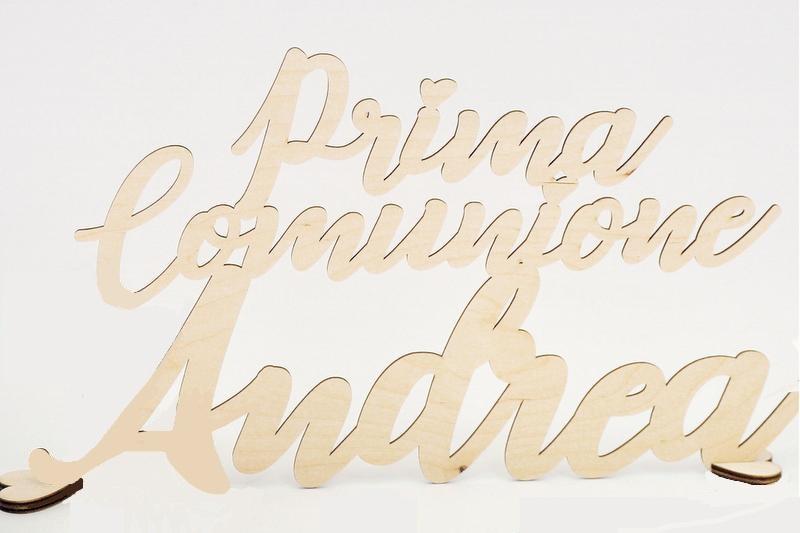 Scritta in legno personalizzato. Lunghezza MAX 40 CM H MAX 23